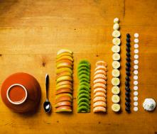 fruitschaal gesorteerd