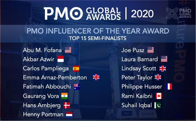 PMO influencers of the year semi-final